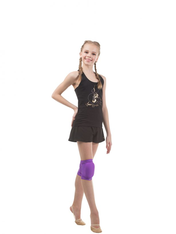 "RG402.02 ""Golden gymnast girl with a ribbon"" racerback tank top"